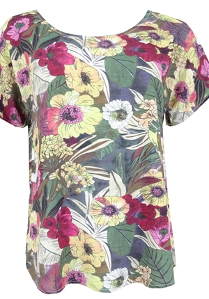 Blus - Topp khaki bloom