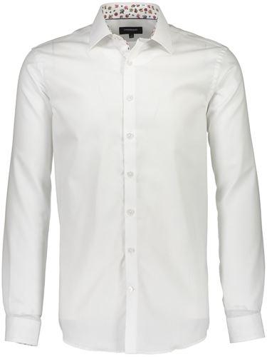 Skjorta - Structure shirt w contrast L/S