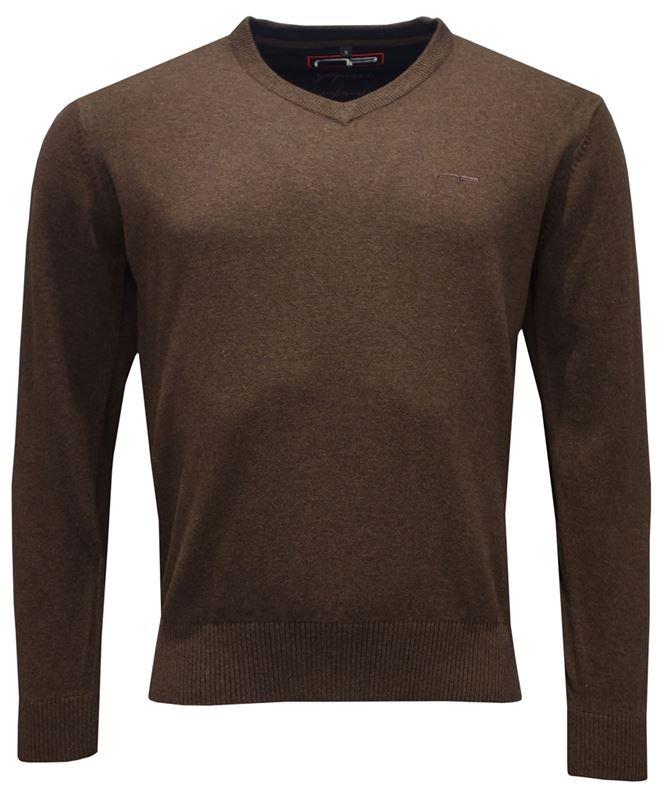 Tröja - V-neck 1670 brun
